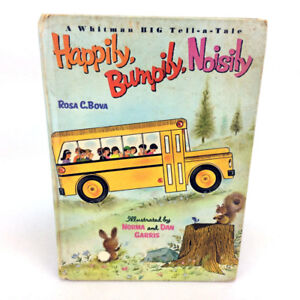 Happily Bumpily Noisily Book Whitman Big Tell A Tale Vintage '67