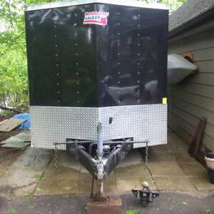 Cargo Trailer with lawn spraying system installed