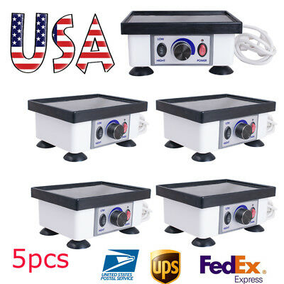 5x Us Fast Dental Lab Mini Square Vibrator Vibrating Oscillator Equipment Fda Ce