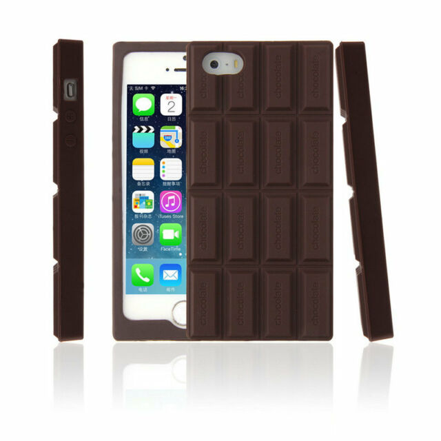 3D Chocolate Bar Look Soft Silicone Case Cover Skin For iPhone 5 5S IT