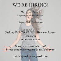 Full time & Part time sales associated needed