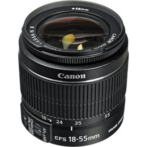 Lightly used 18-55mm Canon lens