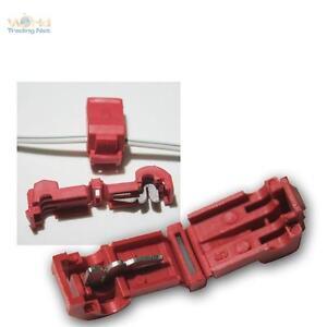 20-Conector-rapido-para-terminales-de-cable-rojo-0-5-1-5mm-ladron-NUEVO