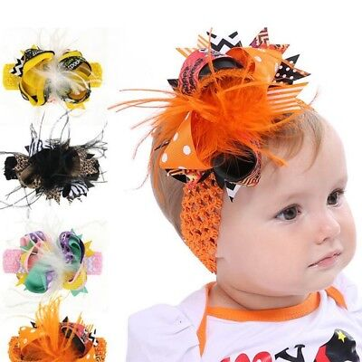 Kids Girls Baby Headband Toddler Bow Halloween Hair Band Accessories Headwear