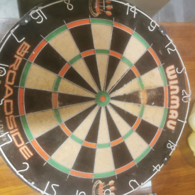Used Winmau Broadside dart board
