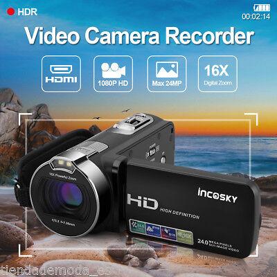 Kamera Camcorder FHD 1080P 24MP Infrarot Nachtsicht 16X Digital Zoom Videokamera