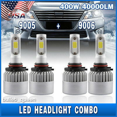 9005 9006 Combo Led Headlight Bulbs For Honda Civic 2004 2013 High   Low Beam Us