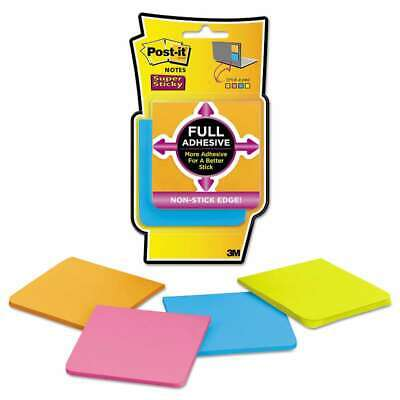 Post-it Notes Super Sticky Full Adhesive Notes 3 X 3 Assorted 051141340371