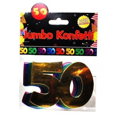 Jumbo Zahlen Konfetti 50.Geburtstag Dekoration Party Tischdeko Bunte Zahlendeko (50. Geburtstag Tischdekoration)