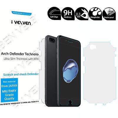 2-PACK Anti-Shock 3D Full Edge Covered Rear skin film+Glass for iPhone 7 / Plus Iphone Skin Pack