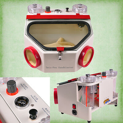 Dental Fine Blasting Unit Sandblaster Twin Pen Twin Pencil Ce