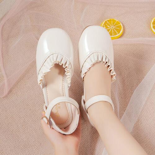 ❤️Rolayllove❤️ Children Infant Kids Baby Girls Cute Weaving T Strap Party Dance Princess Sandals Shoes