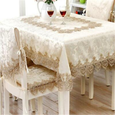 Chic European Lace Tablecloth Rustic Embroidered Table Cloth Cover Decor Q - Rustic Table Cloth