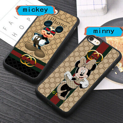 SALE!!Gucci1972Minny Mickey Love DisneyX3D iPhone 6 7 8 X 11Pro Case Silicone