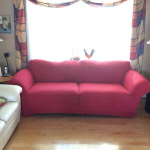 Housse de sofa Surefit rouge - Surefit red sofa cover