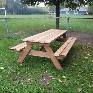 6' Hand Crafted 2x6 Cedar or Pressure Treated Picnic Table London Ontario image 9