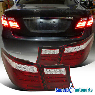 For 2007-2009 Lexus LS460 LED Tail Trunk Lamps Rear Brake Lights Red 4PCS