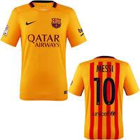 FC Barcelona soccer jersey 2016 Gold Color | Messi 10