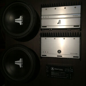 JL Audio amps and subwoofers