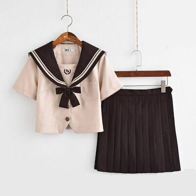 Neu Koreanisch Süße Mädchen Matrose Anzug Schule Uniformen Kleidung Outfits Kurz