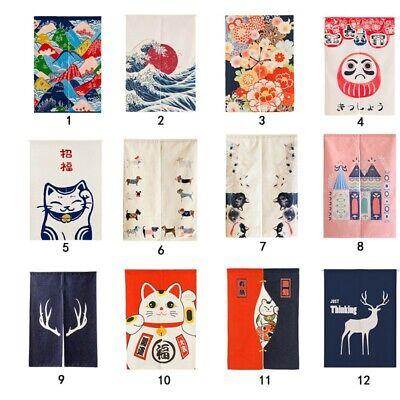 Japanese Noren Curtains Door Room Tapestry Doorway Divider F