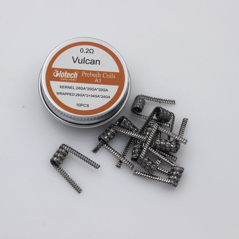 Glotech Vulcan coil prebuilt coil heating wire Premade coil for RDA RTA vape