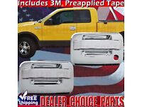 For Ford F-150 Xlt//Fx4 04-08 4Drs Handle With Kp+Tophalf Mirror Chrome Covers
