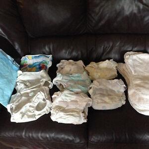 Cloth diapers best deal around!!   21 items for $15 SAVE $$$$