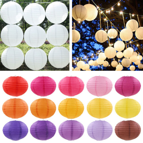 Chinese Round Paper Lanterns Lamp Birthday Wedding Party Dec