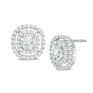 New Earrings White Sapphire Stud in Sterling Silver 32% off