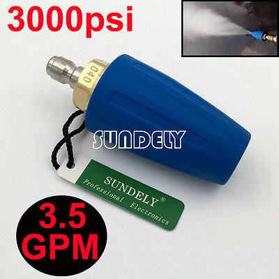 3.5 Gpm Blue 14 Quick Connect High Pressure Washer Turbo Nozzle Tip 3000psi