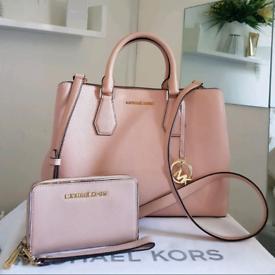 (Jo's post) Michael Kors soft pink CAMILLE SATCHEL BAG & FREE PURSE