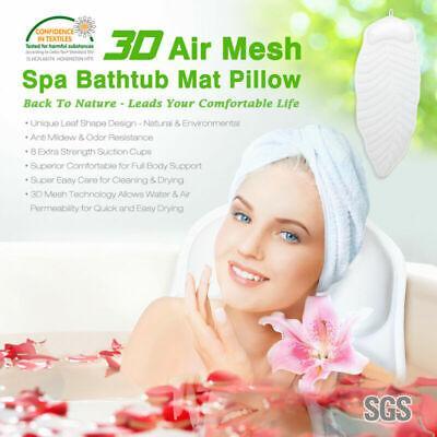 Non-Slip Full Body Bath Pillow, Neck & Back Relax Ergonomic Spa Bathtub Soft Mat