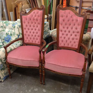 Matching Upholstered Accent Chairs