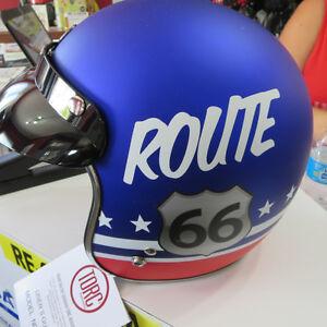 Torc Open Face 3/4 Helmet Cafe Racer Bobber Style NEW