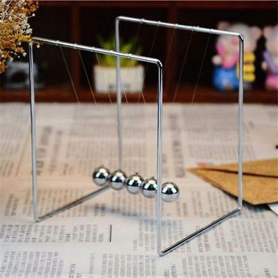 New Newtons Cradle Steel Balance Balls Desk Physics Science Pendulum Desk Toys