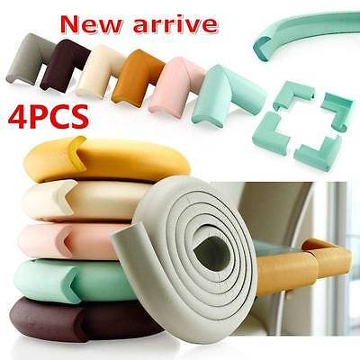 4pcs Furniture Corner Edge Protectors Soft Safety Cushion Guard Pad For Baby -
