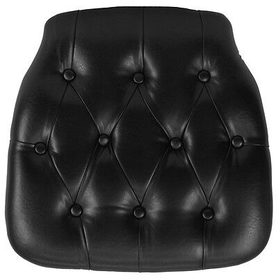 Flash Furniture Hard Black Tufted Vinyl Chiavari Chair Cushion SZ-TUFT-BLACK-GG