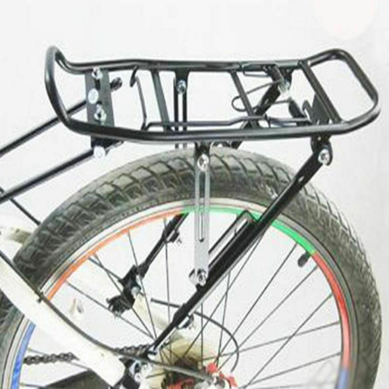 Heavy Duty Bike Bicycle Pannier Rear Rack Carrier Bracket Luggage Max To 20 lbs