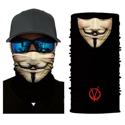 V For Vendetta Tactical Black Skull Face Shield Sun Mask Balaclava