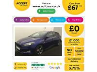 FORD FOCUS DEEP IMPACT BLUE 1.5 182 ST-LINE HATCHBACK PETROL FROM £67 PER WEEK!