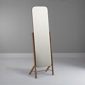 JOHN LEWIS HATTEN OAK CHEVAL MIRROR FULLY BOXED PERFECT RRP £500 Brand New CHEVAL Mirror