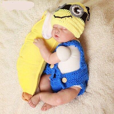 Fotoshooting Neugeborene Baby Kostüm Minion Fotografie Foto Shooting Banane ()