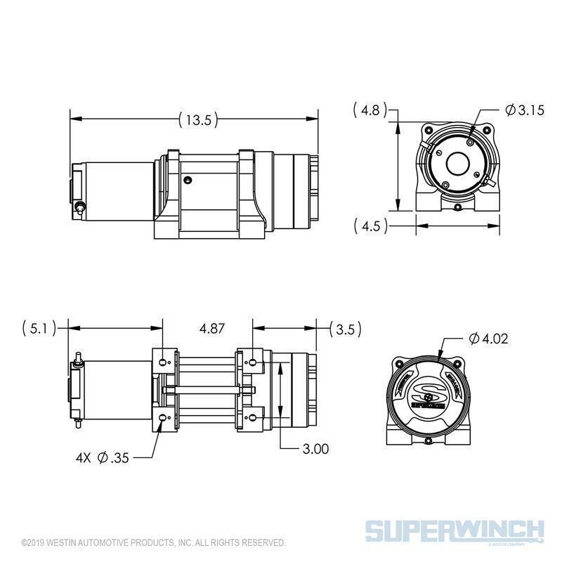 Superwinch LT3000 12V ATV Utility Winch 3000 LB Capacity