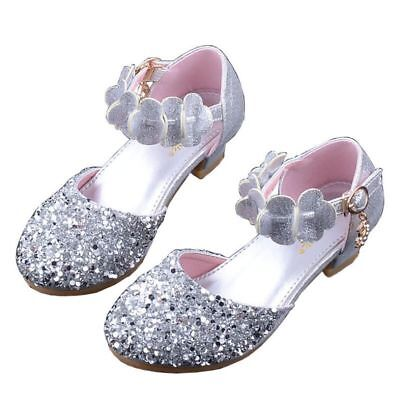 Princess Shoes for Girls Sandals Heel Glitter Shiny Rhinestone Party Dress Shoes](Dress Shoes For Teenage Girls)