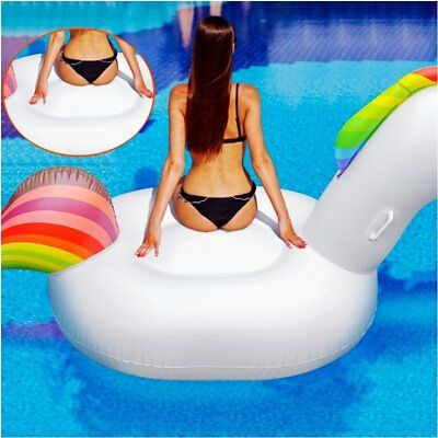 7 ft Inflatable Unicorn Swimming Pool Float Raft Water Sports Beach Toy US Stock