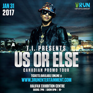 Four (4) T.I. Tickets for sale / trade