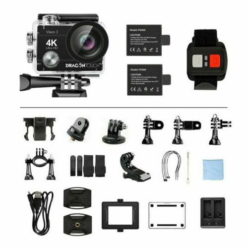 как выглядит Dragon Touch Vision 3 HD 4K/30fps WIFI Action Camera 16MP DV Camcorder 32G SD US фото