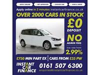 Volkswagen Touran 1.6TDI ( 105ps ) ( BMT ) 2015MY SE LOW WEEKLY PAYMENTS £70