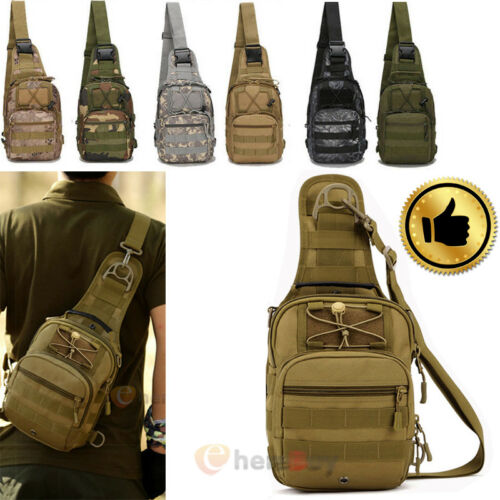 mens backpack molle tactical sling chest bag